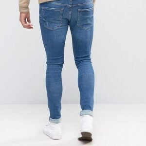 River Island Super Skinny Jeans In Mid Wash